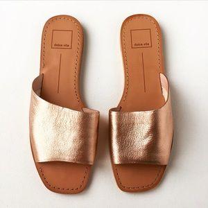 Dolce Vita Cato Asymmetrical Slide Sandal RoseGold